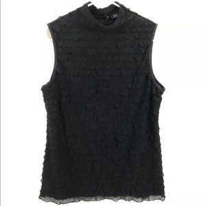 New Directions Sleeveless Ruffle Top